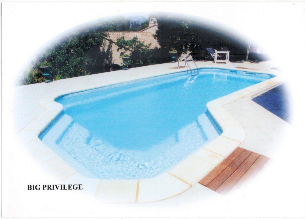 piscina de fibra privilege b